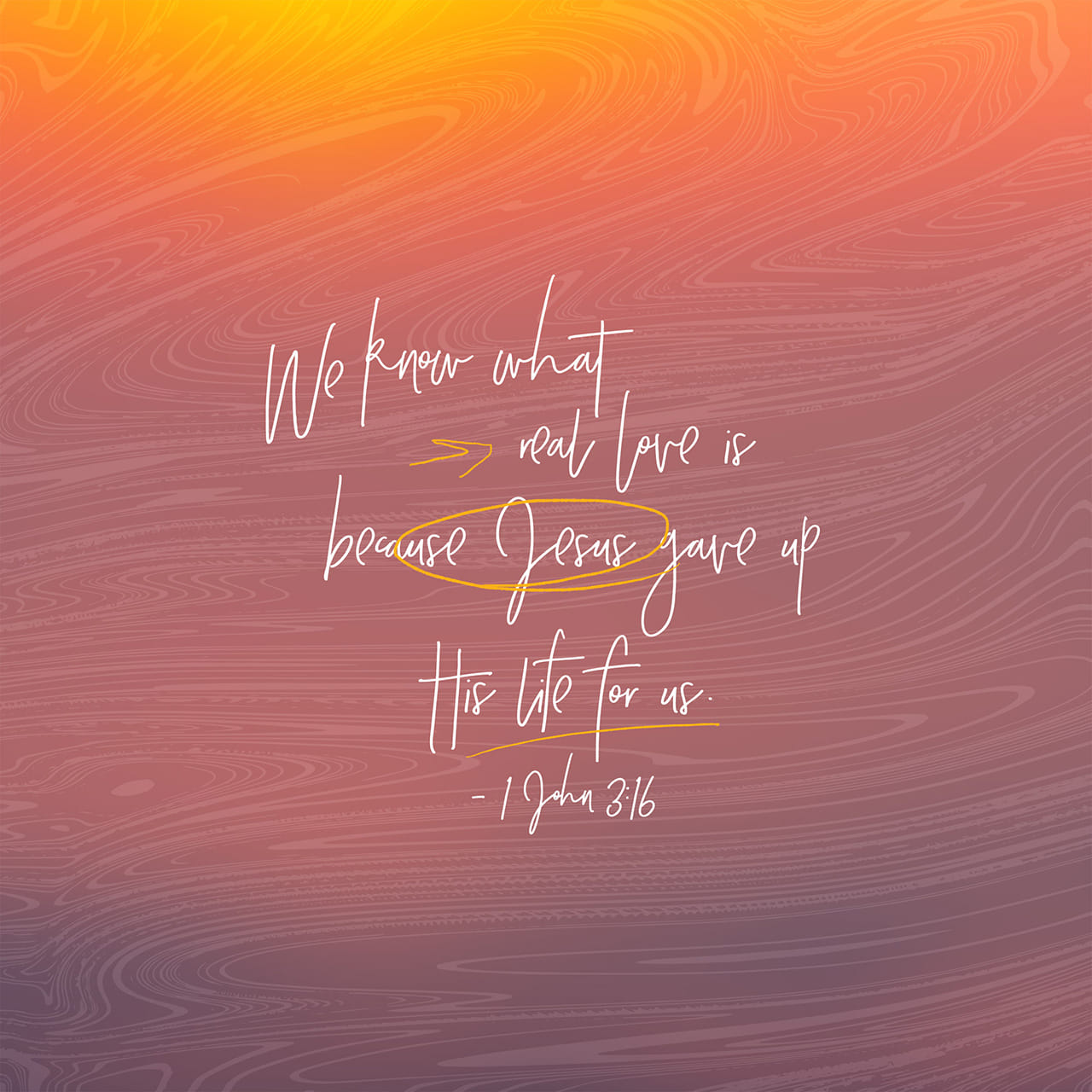 1 John 3:16 Hereby perceive we the love of God, because he laid down his life for us: and we ought to lay down our lives for the brethren. | King James Version (KJV)