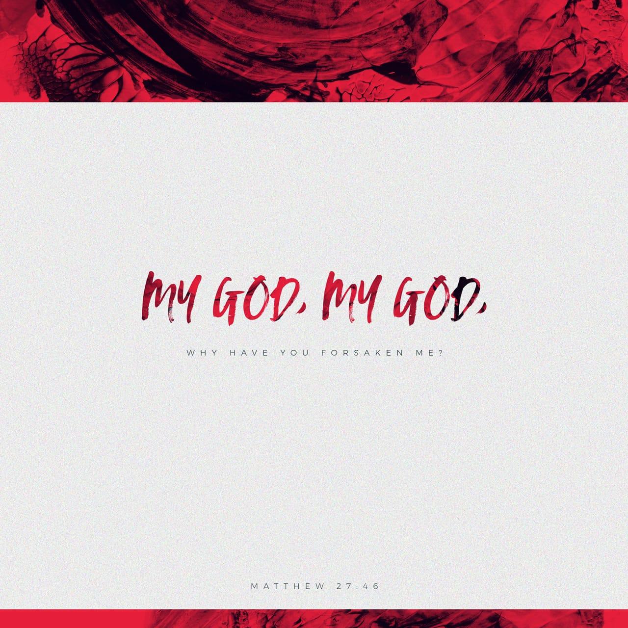 Mateus 27:46 Por volta da hora nona, clamou Jesus em alta voz, dizendo: Eli, Eli, lamá sabactâni? O que quer dizer: Deus meu, Deus meu, por que me desamparaste?   Almeida Revista e Atualizada (ARA)