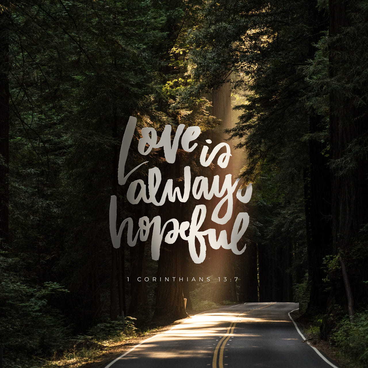 1 Corinthians 13:6-7 Love does not delight in evil but rejoices with the truth. It always protects, always trusts, always hopes, always perseveres. | New International Version (NIV)