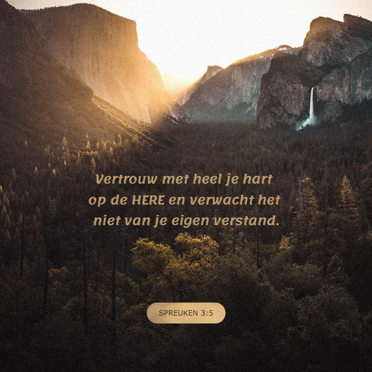spreuken 3 Spreuken 3:5 6 Vertrouw op de HERE met uw ganse hart en steun op  spreuken 3