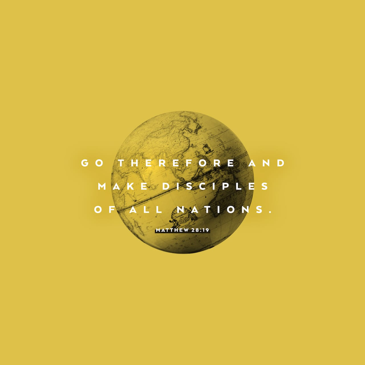 Matthew 28:19 Therefore go and make disciples of all nations, baptizing them in the name of the Father and of the Son and of the Holy Spirit | New International Version (NIV)