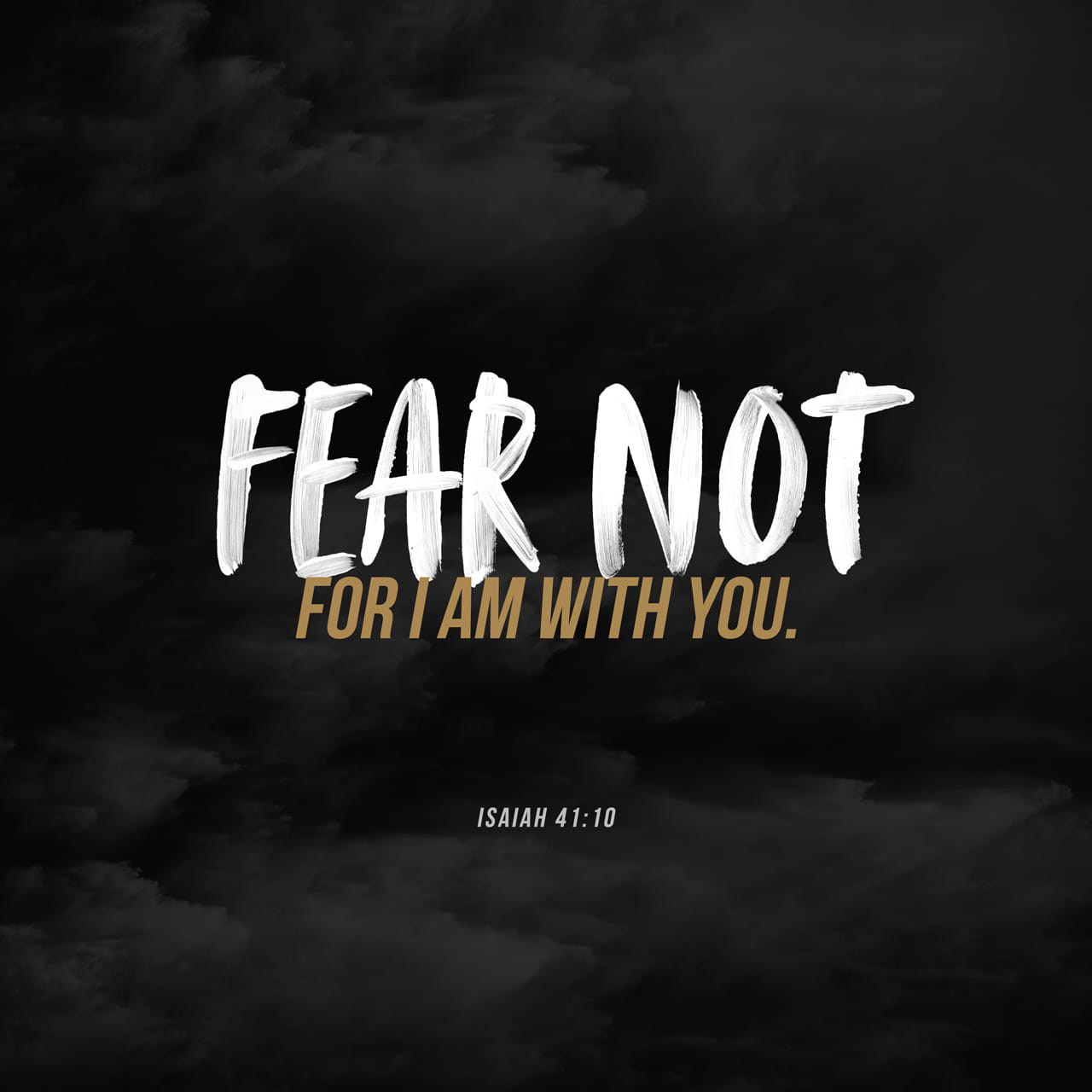 Isaiah 41:10 Do not be afraid — I am with you! I am your God — let nothing terrify you! I will make you strong and help you; I will protect you and save you.