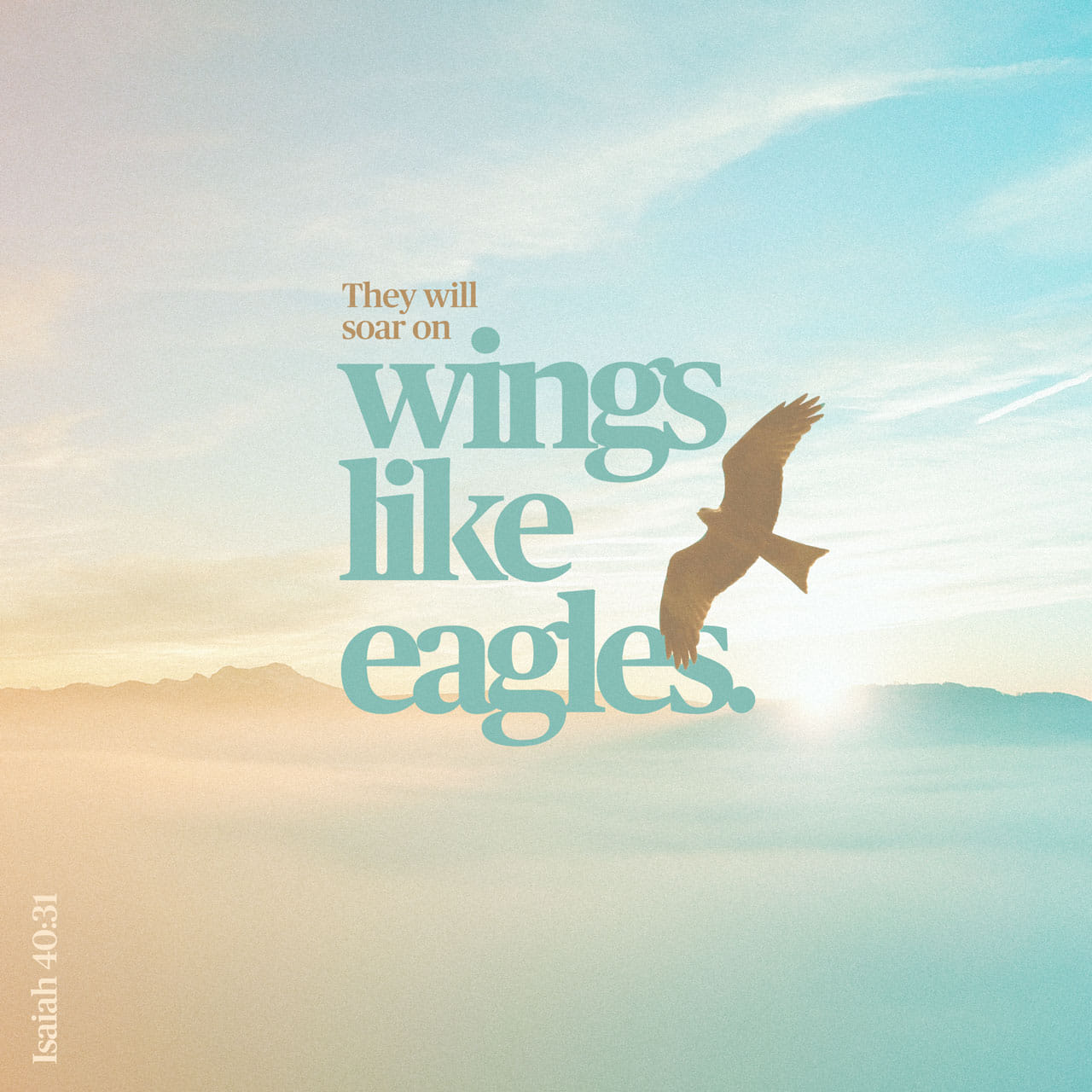 Isaiah 40:31 But they that wait upon the LORD shall renew their strength; they shall mount up with wings as eagles; they shall run, and not be weary; and they shall walk, and not faint. | King James Version (KJV)