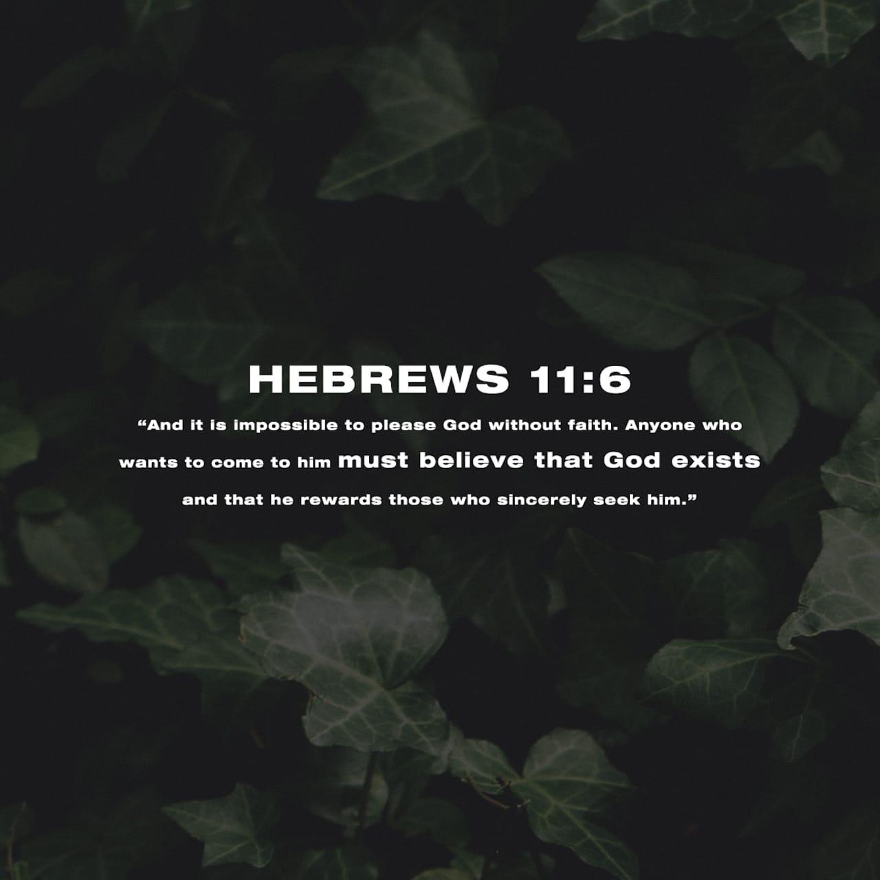 Lettera agli Ebrei 11:6 Or senza fede è impossibile piacergli; poiché chi si accosta a Dio deve credere che egli è, e che ricompensa tutti quelli che lo cercano. | Nuova Riveduta 1994 (NR94)