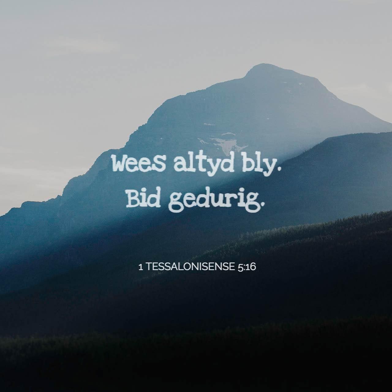 Versbeeld vir 1 Tessalonisense 5:17