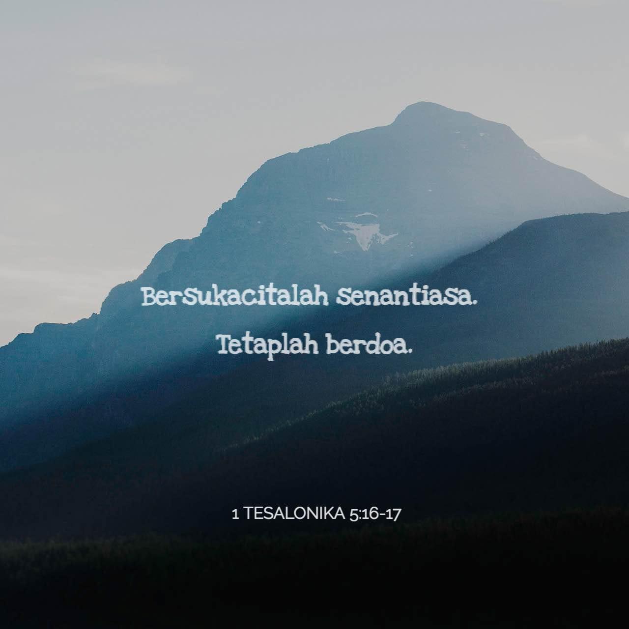 Gambar Ayat untuk 1 Tesalonika 5:17