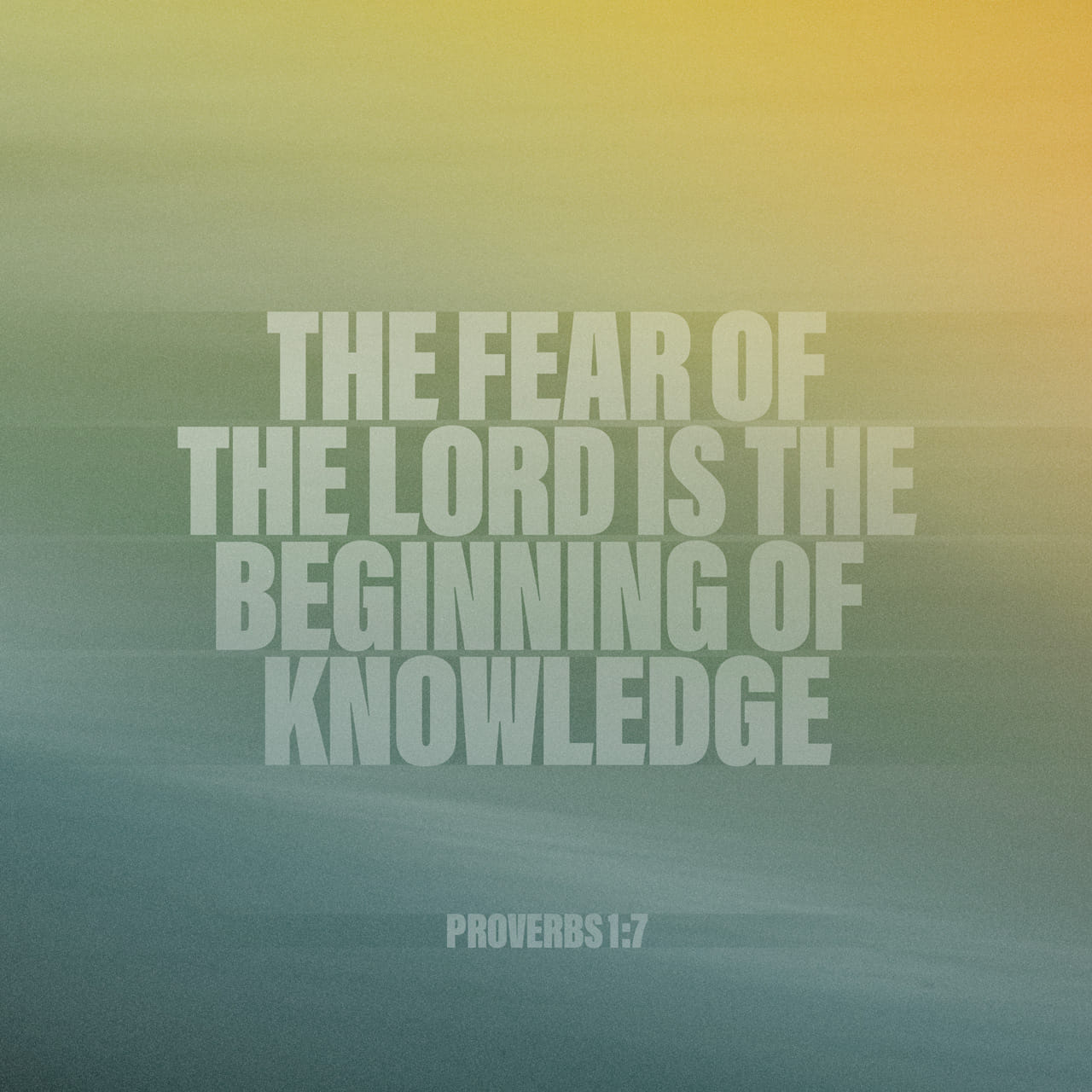 Proverbs 1:7 The fear of Jehovah is the beginning of knowledge; But the foolish despise wisdom and instruction. | American Standard Version (ASV)