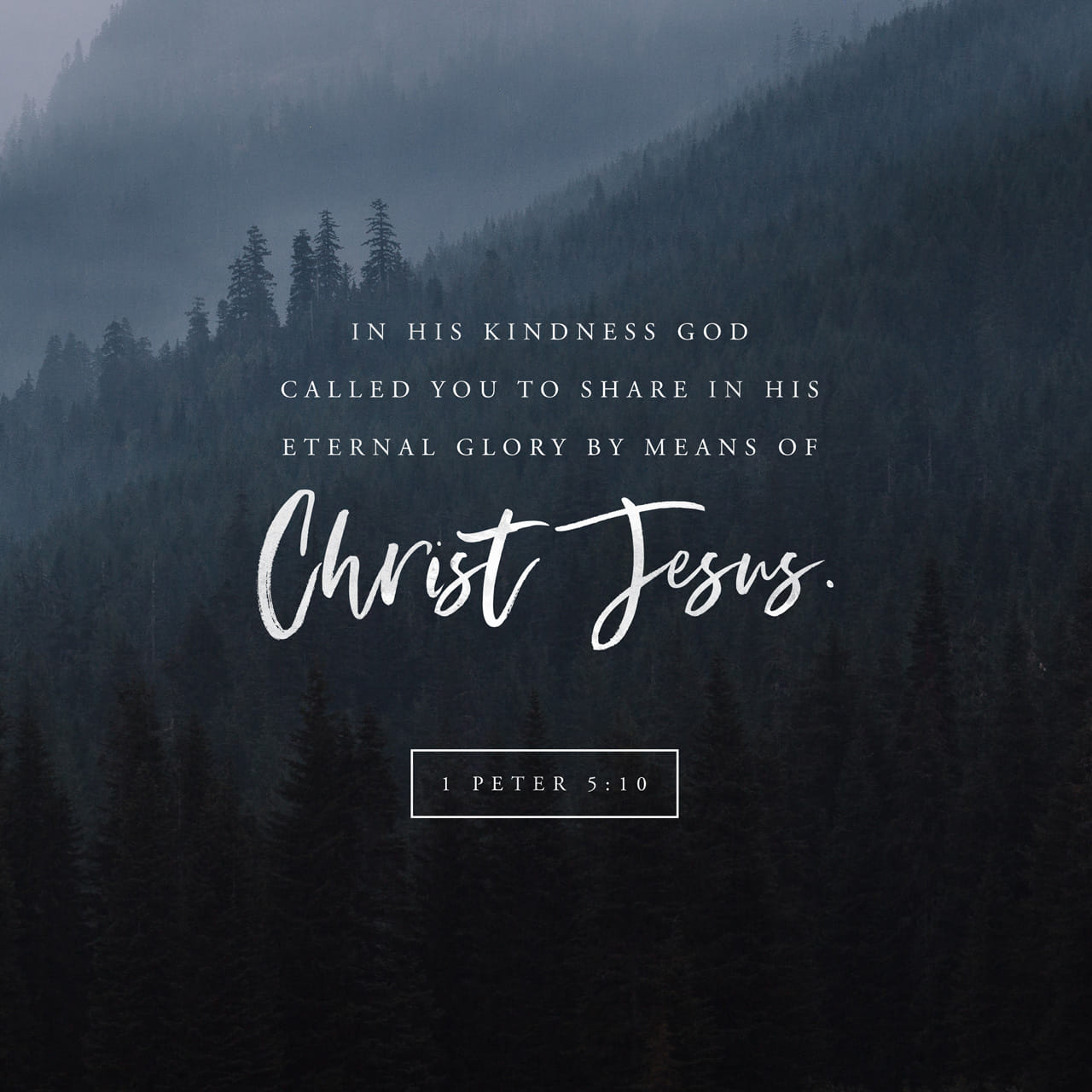 1 Peter 5:10 But the God of all grace, who hath called us unto his eternal glory by Christ Jesus, after that ye have suffered a while, make you perfect, stablish, strengthen, settle you. | King James Version (KJV)