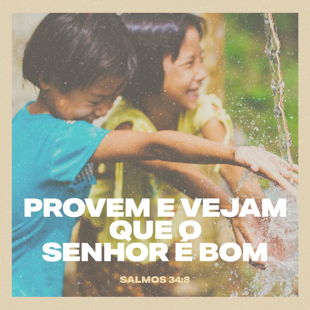 Salmos 34:8 Provem e vejam como o SENHOR é bom. Como é feliz o homem que nele se refugia!   Nova Versão Internacional Português (NVI-P)   Baixar o App da Bíblia agora