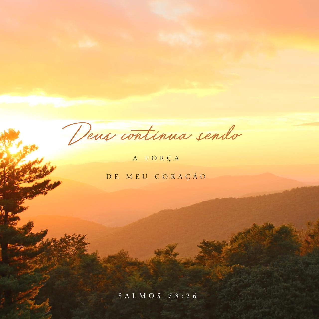 Salmos 73:26 O meu corpo e o meu coração poderão fraquejar, mas Deus é a força do meu coração e a minha herança para sempre.   Nova Versão Internacional Português (NVI-P)   Baixar o App da Bíblia agora