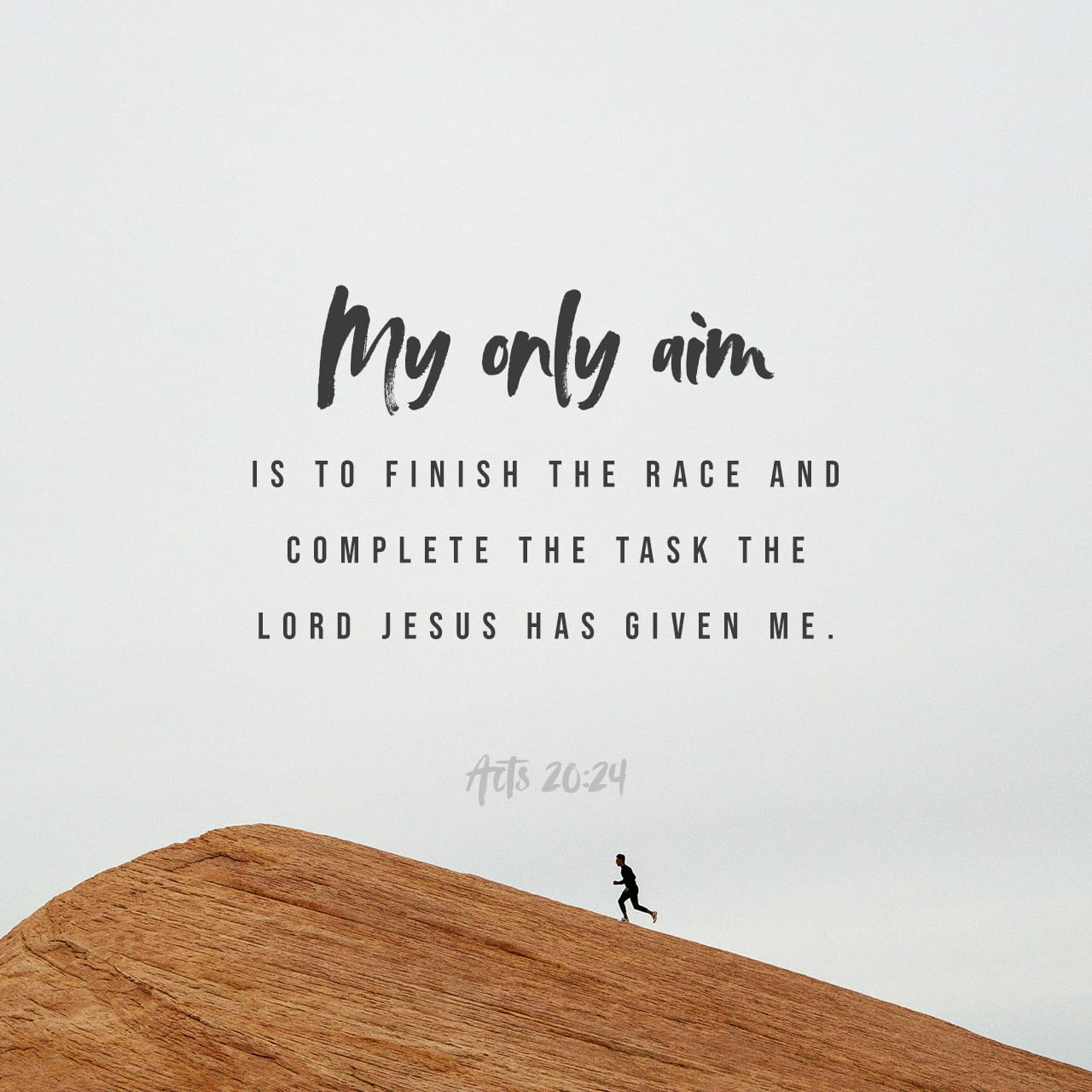 Acts 20:24 But none of these things move me, neither count I my life dear unto myself, so that I might finish my course with joy, and the ministry, which I have received of the Lord Jesus, to testify the gospel | King James Version (KJV)