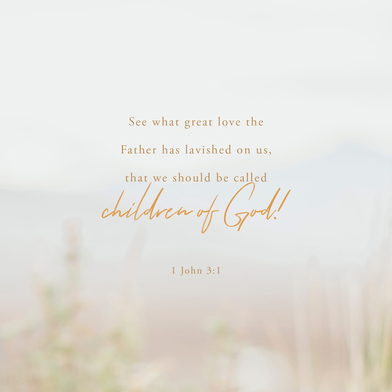 1 John 3:1 Behold, what manner of love the Father hath bestowed upon us, that we should be called the sons of God: therefore the world knoweth us not, because it knew him not. | King James Version (KJV)