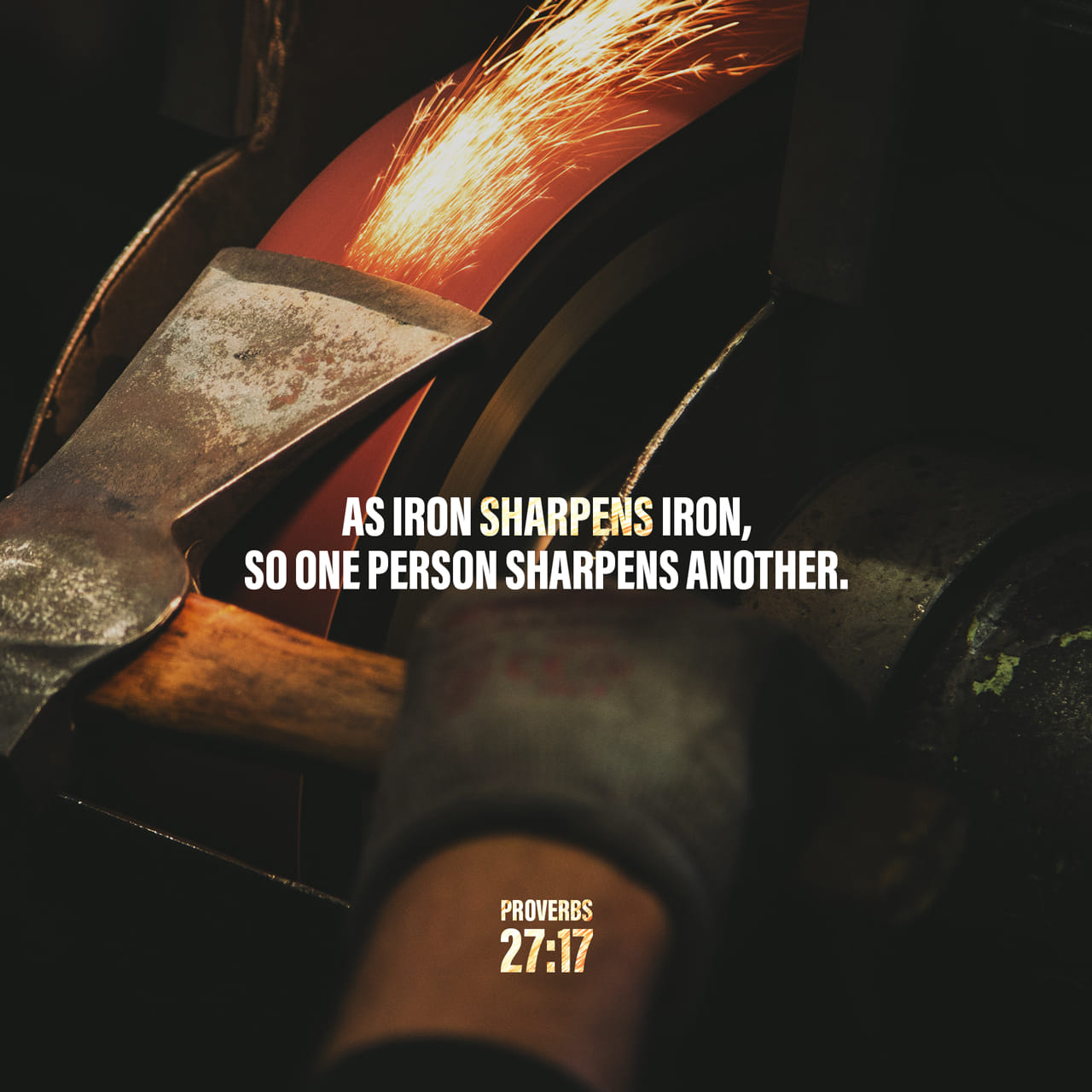 Proverbs 27:17 As iron sharpens iron, So a man sharpens the countenance of his friend. | New King James Version (NKJV)