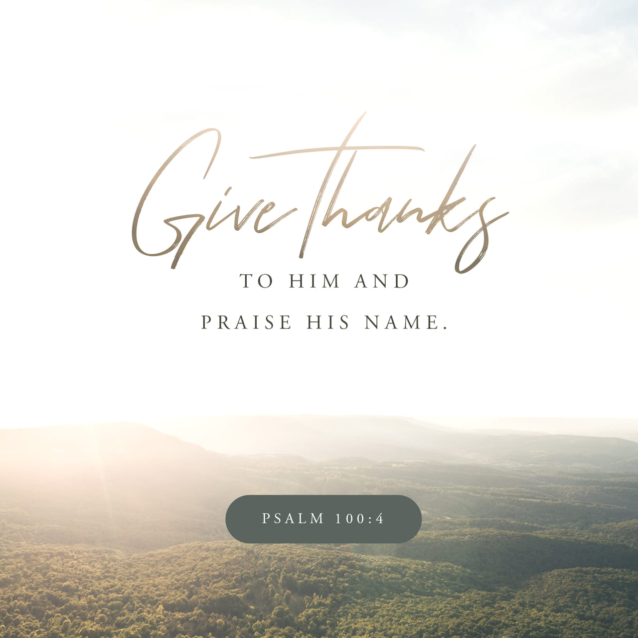 Psalm 100:4 Enter his gates with thanksgiving and his courts with praise; give thanks to him and praise his name. | New International Version (NIV)