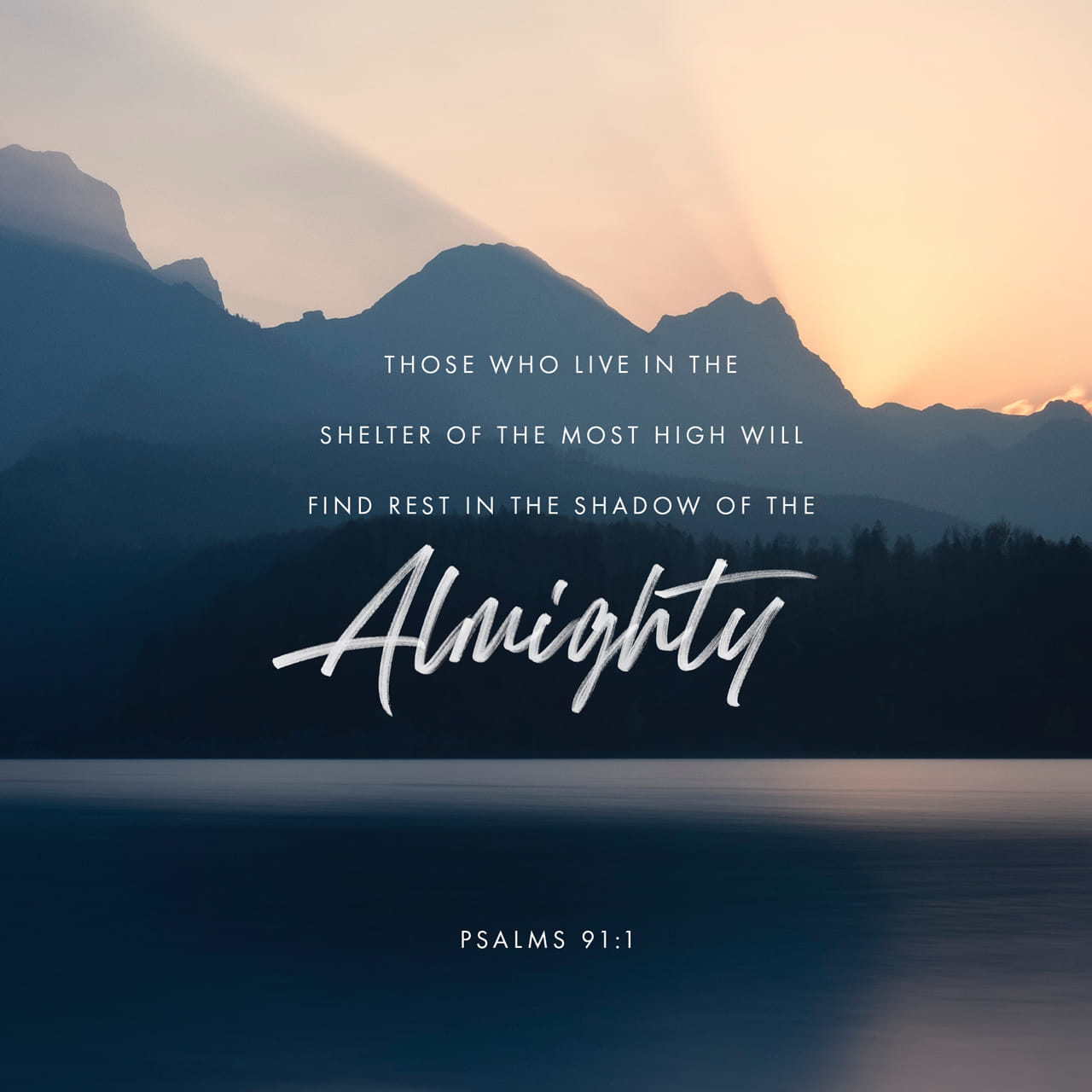 Psalms 91:1 He who dwells in the shelter of the Most High will abide in the shadow of the Almighty. | English Standard Version (ESV)