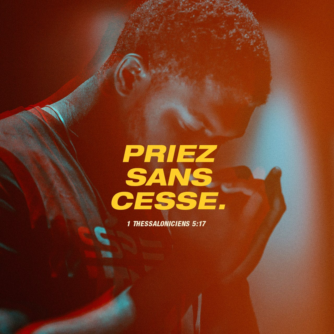 Verset Illustré pour 1 Thessaloniciens 5:17