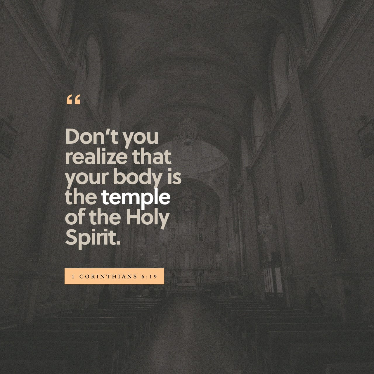 Verse of the Day - 1 Corinthians 6:19 (KJV) | The Bible App | Bible com