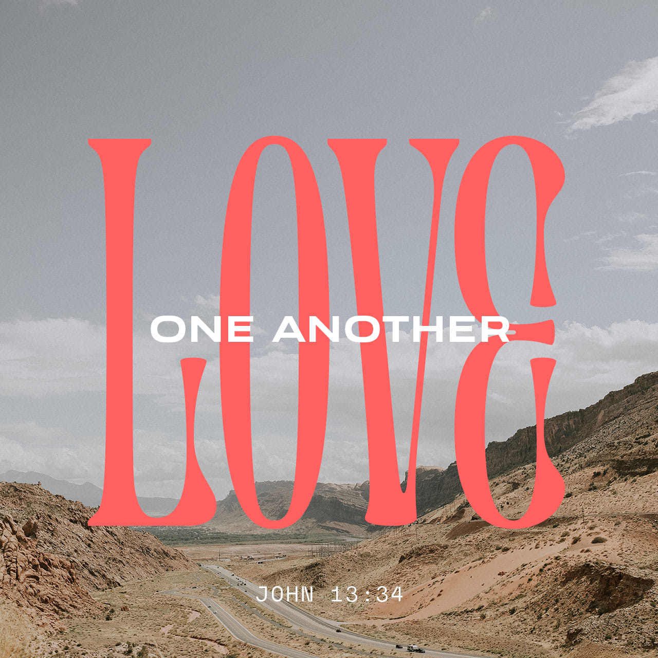 Love one another - John 13:34 - Verse Image