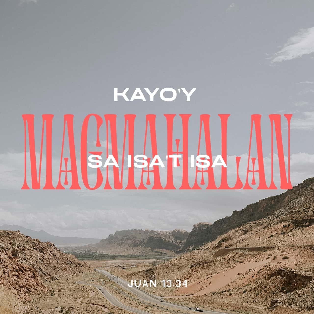 Mag-ibigan kayo - Juan 13:34 - Bersikulong Larawan