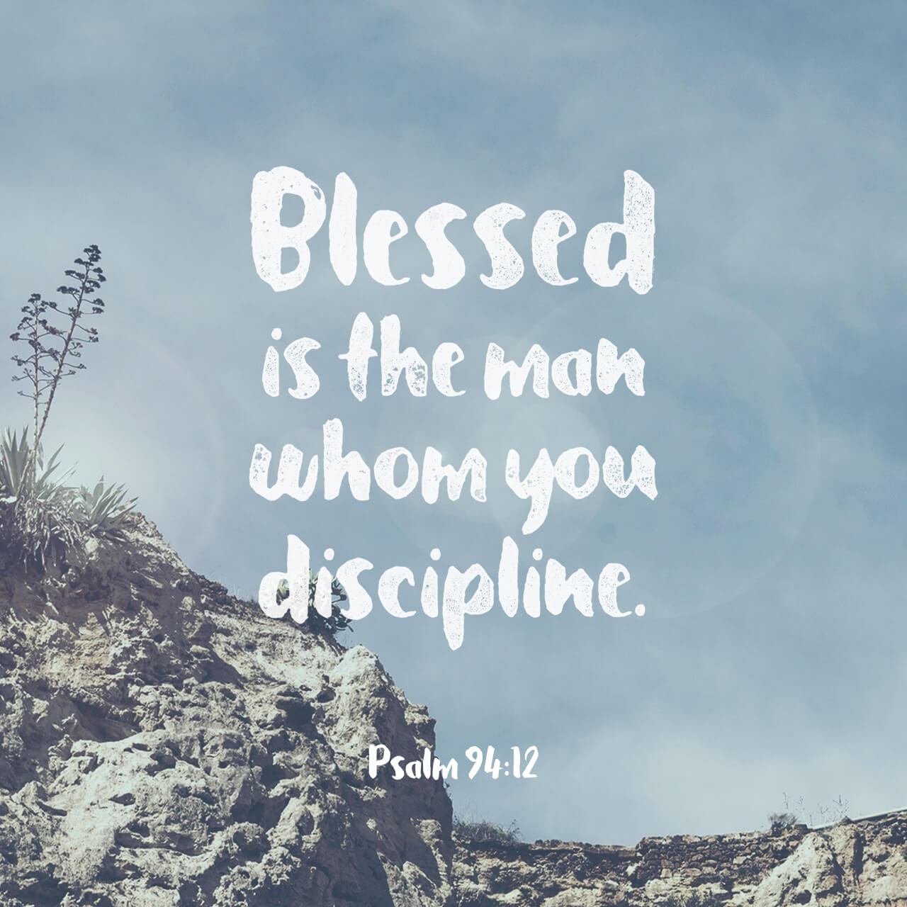 Psalm 94:12-13 Blessed is the one you discipline, LORD, the one you teach from your law; you grant them relief from days of trouble, till a pit is dug for the wicked. | New International Version (NIV)