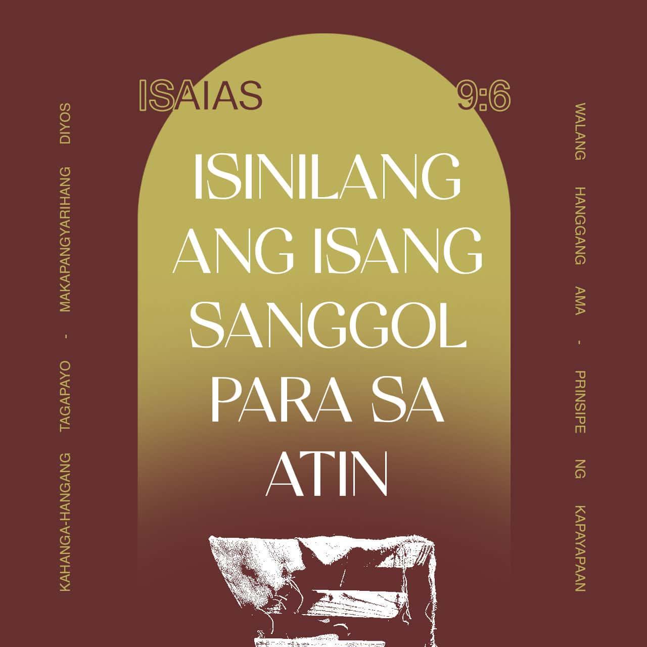 Sapagkat isinilang ang isang sanggol para sa atin - Isaias 9:6 - Bersikulong Larawan
