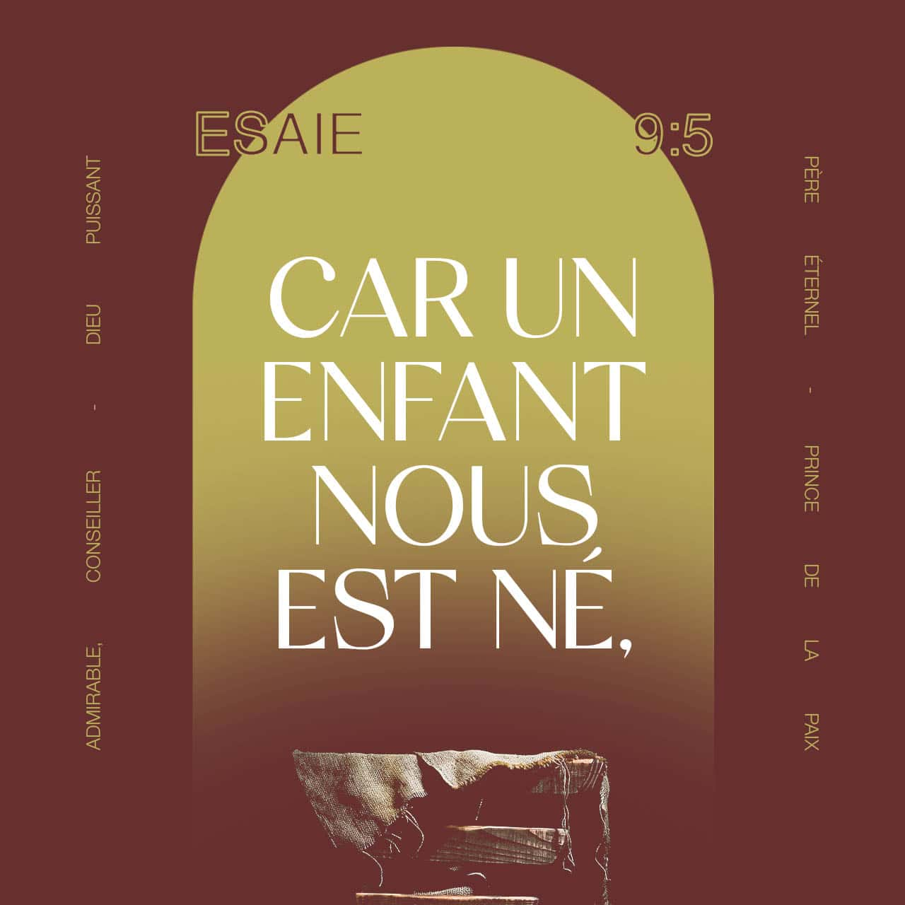 Car un enfant nous est né - Esaïe 9:5 - Verset illustré