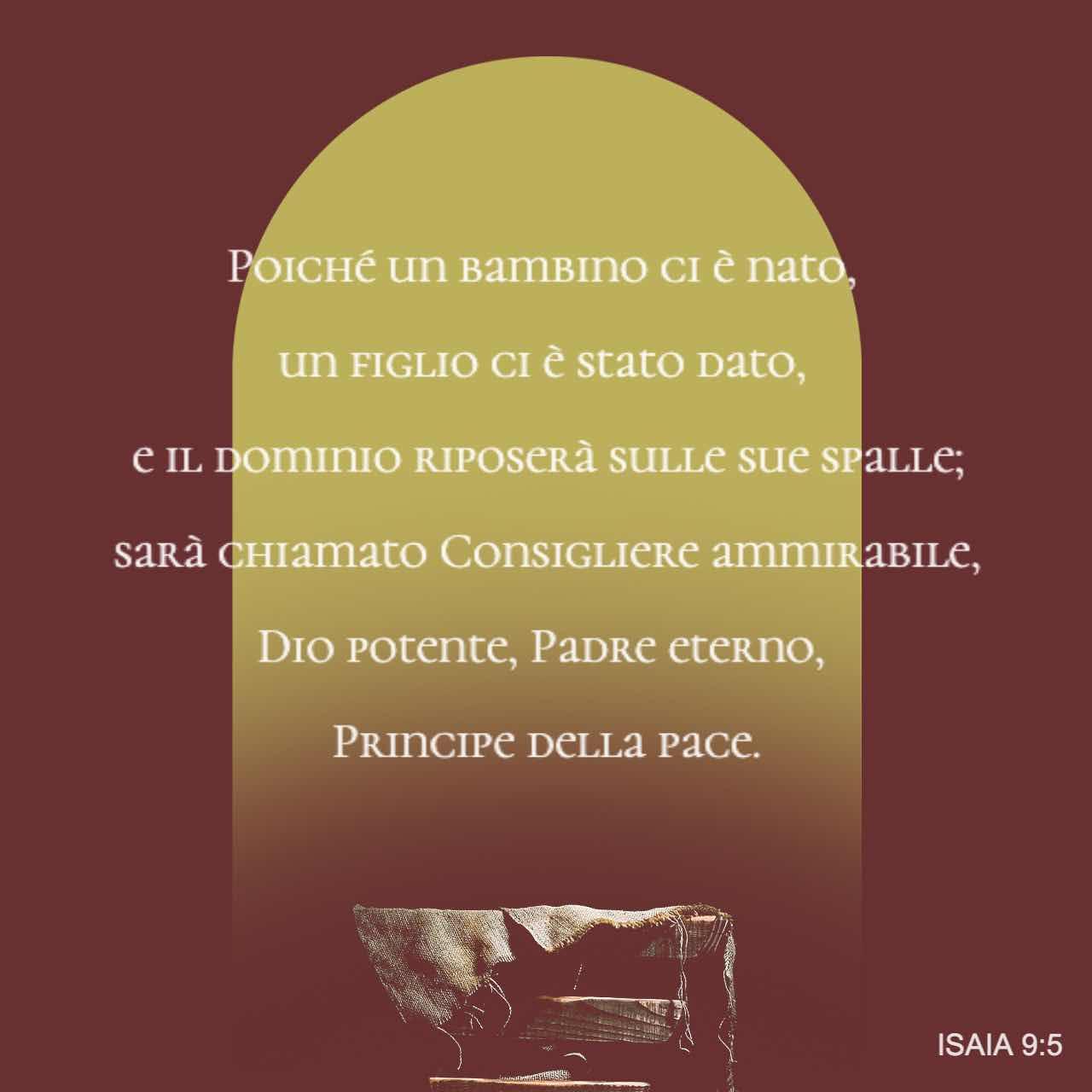Poiché un bambino ci è nato, un figlio ci è stato dato - Isaia 9:5 - Immagine Versetto