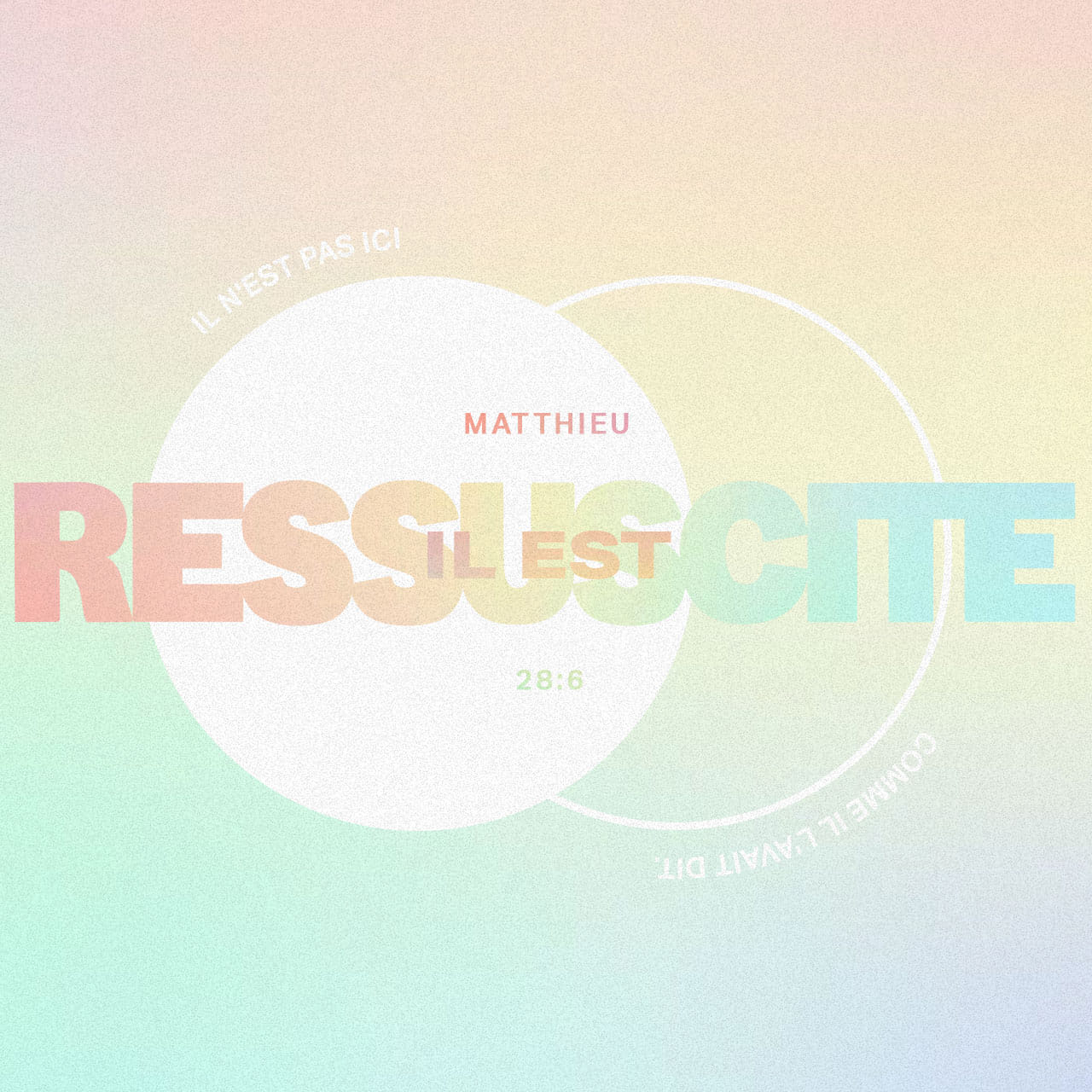 Il est ressuscité - Matthieu 28: 6 - Verse Image