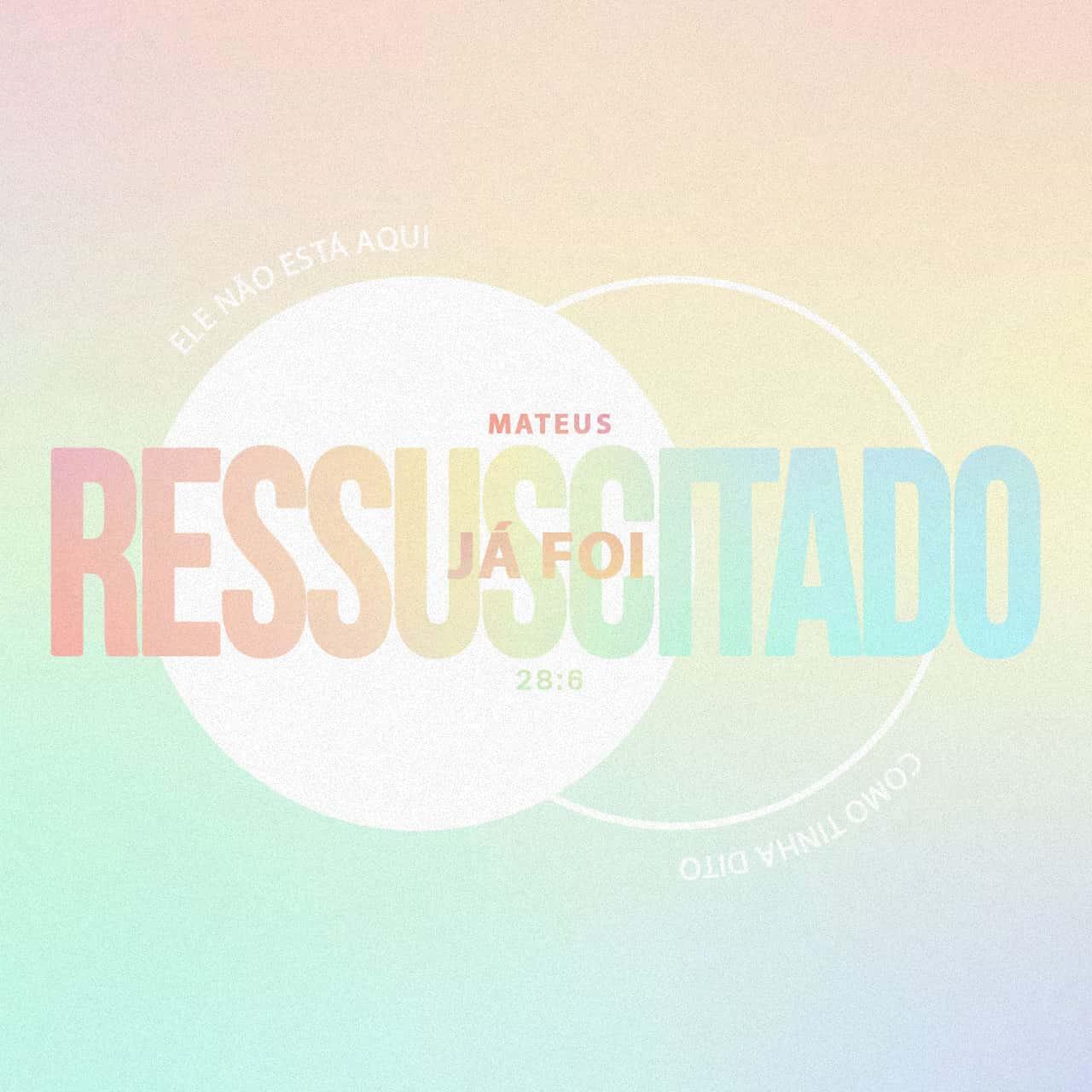 Ele Ressuscitou - Mateus 28:6 - Imagem de Versículo