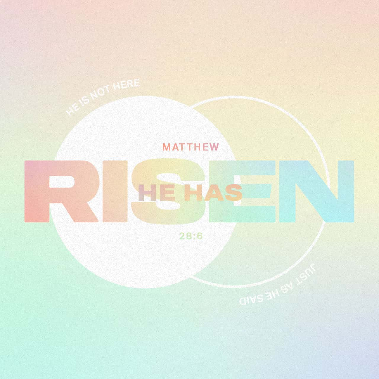 He Has Risen - Matthew 28:6 - Verse Image