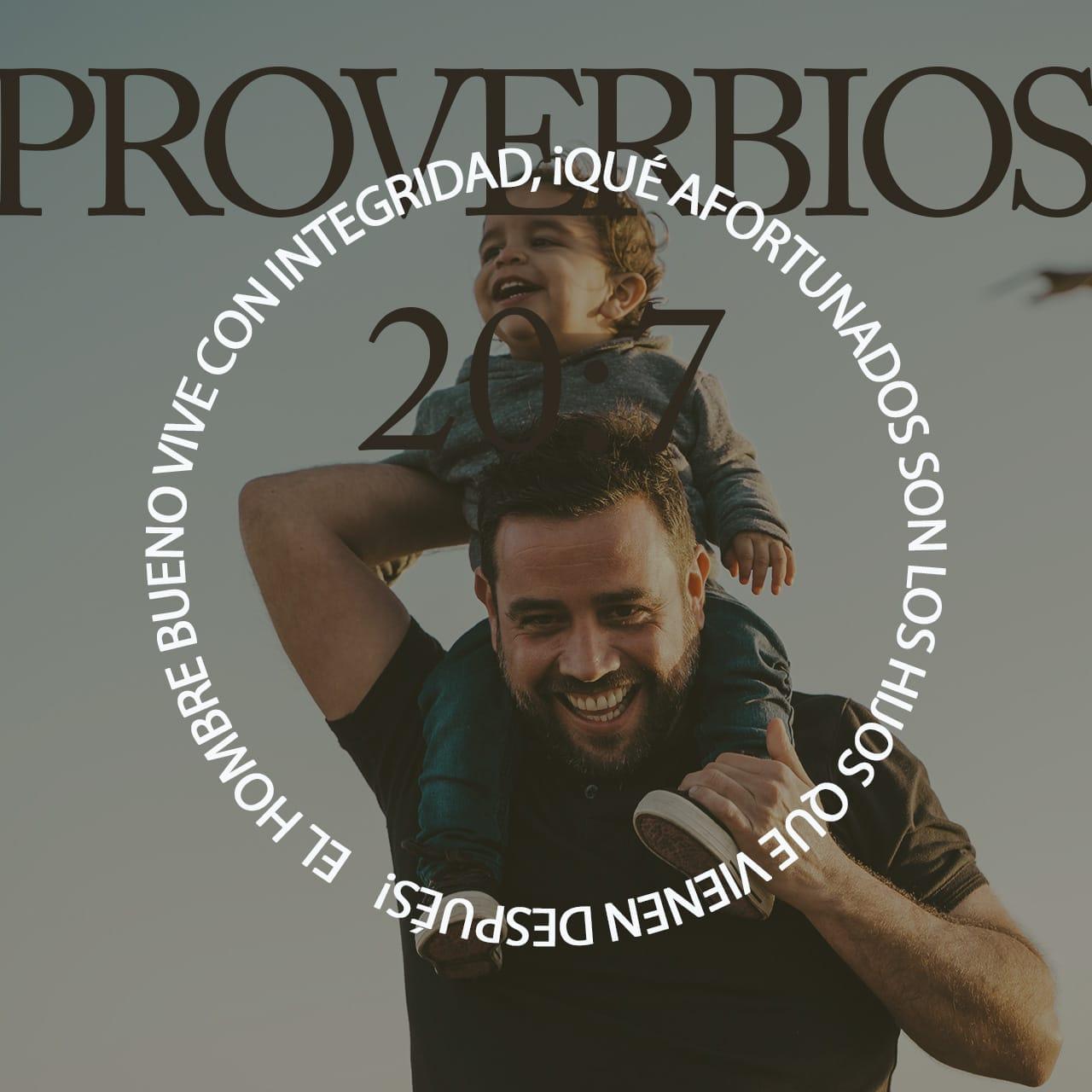 Imagen de Versículo Proverbios 20:7