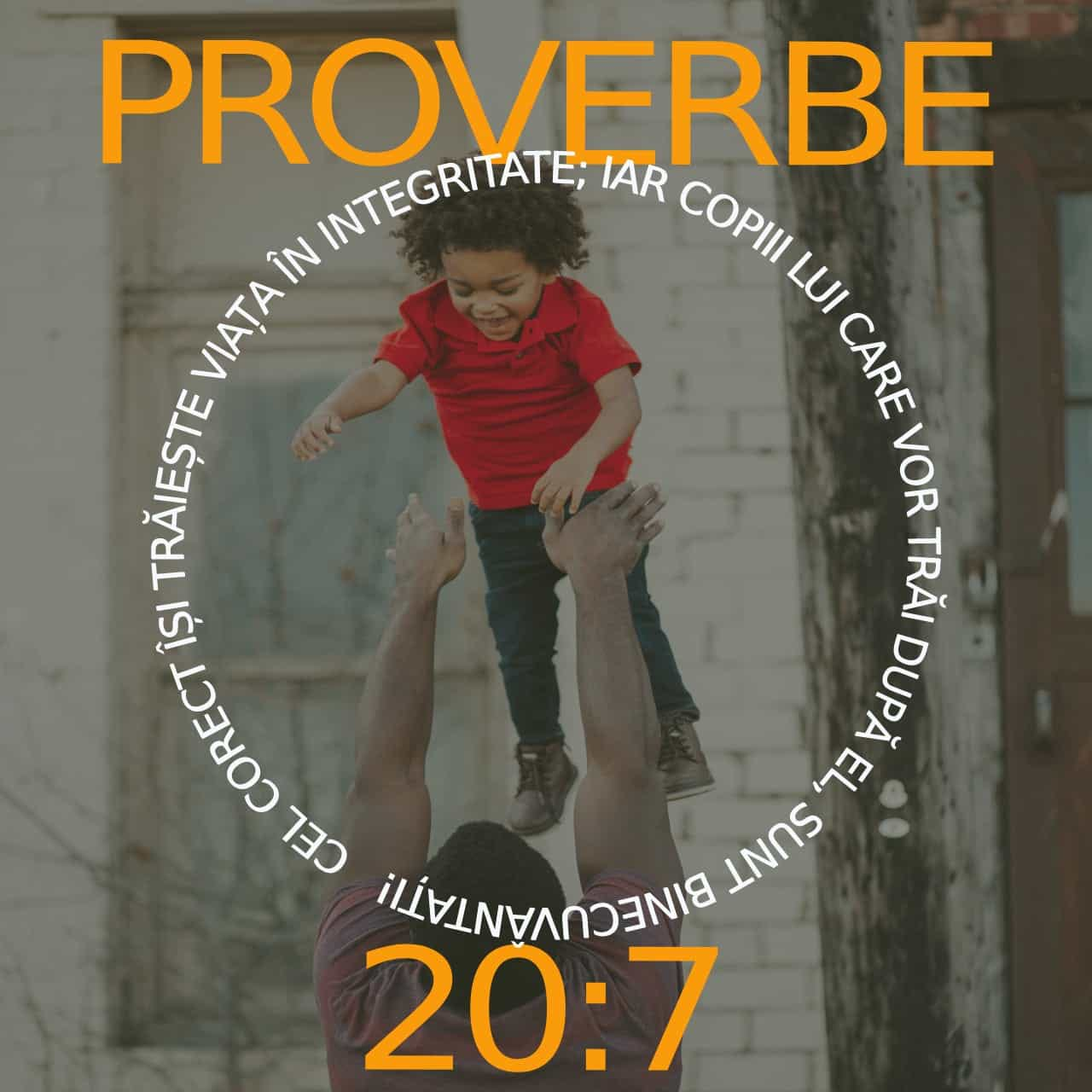Proverbe 20: 7 Verset ilustrat