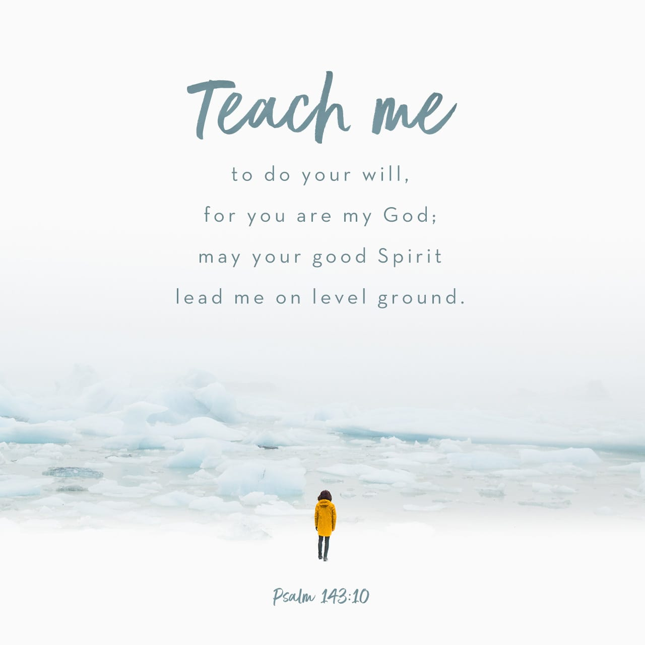 Psalms 143:10 Teach me to do thy will; for thou art my God: thy spirit is good; lead me into the land of uprightness. | King James Version (KJV)