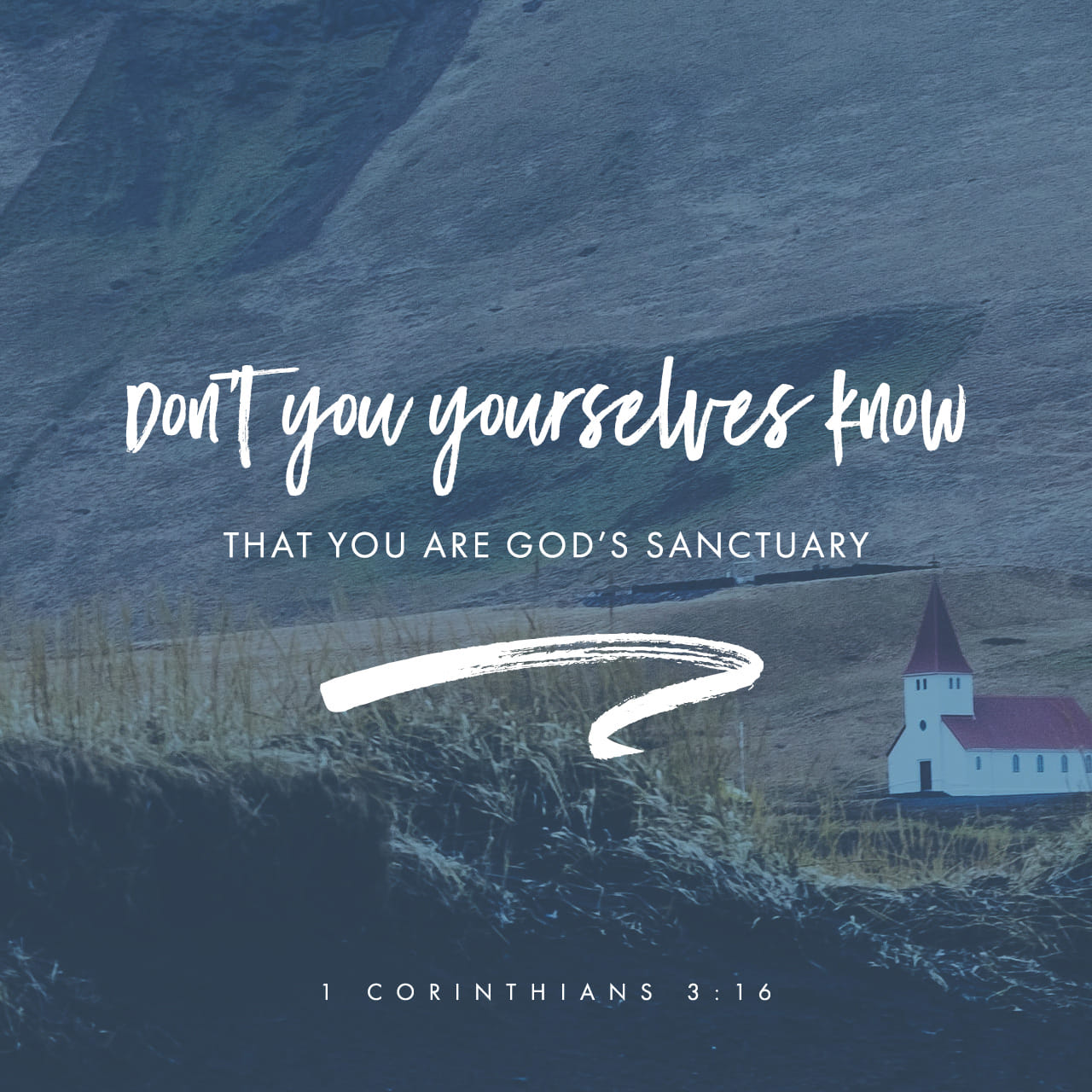 1 Corinthians 3:16 Don't you realize that all of you together are the temple of God and that the Spirit of God lives in you? | New Living Translation (NLT)