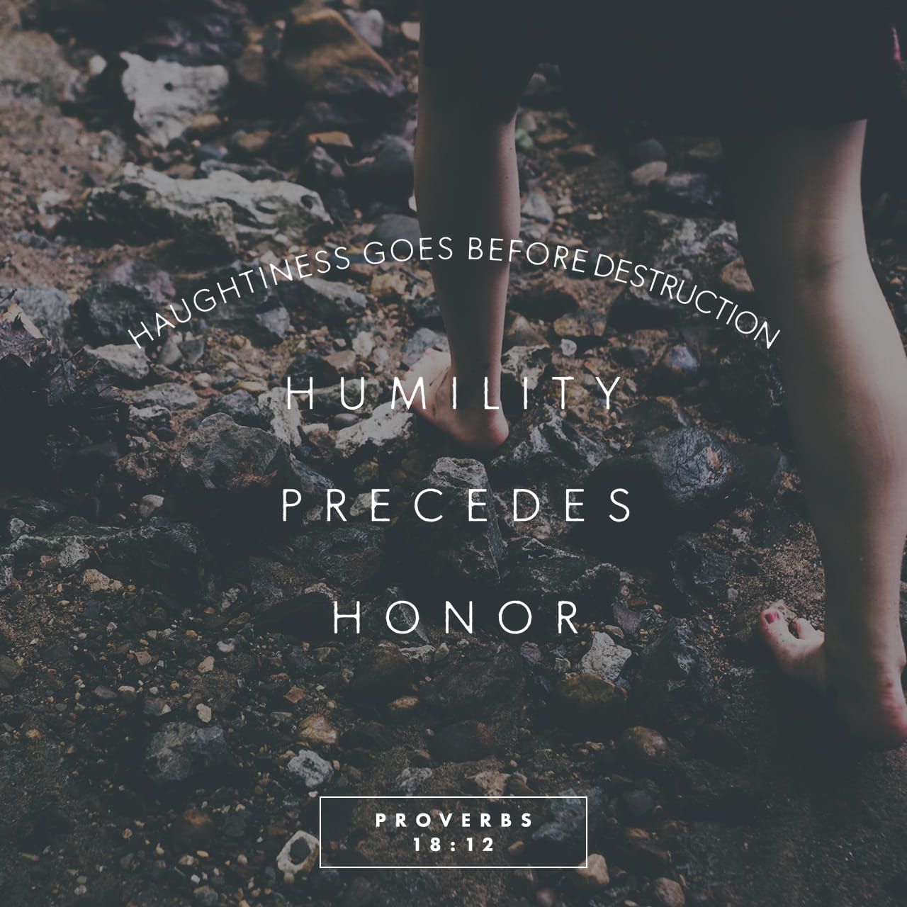 Proverbs 18:12 Haughtiness goes before destruction; humility precedes honor.   New Living Translation (NLT)