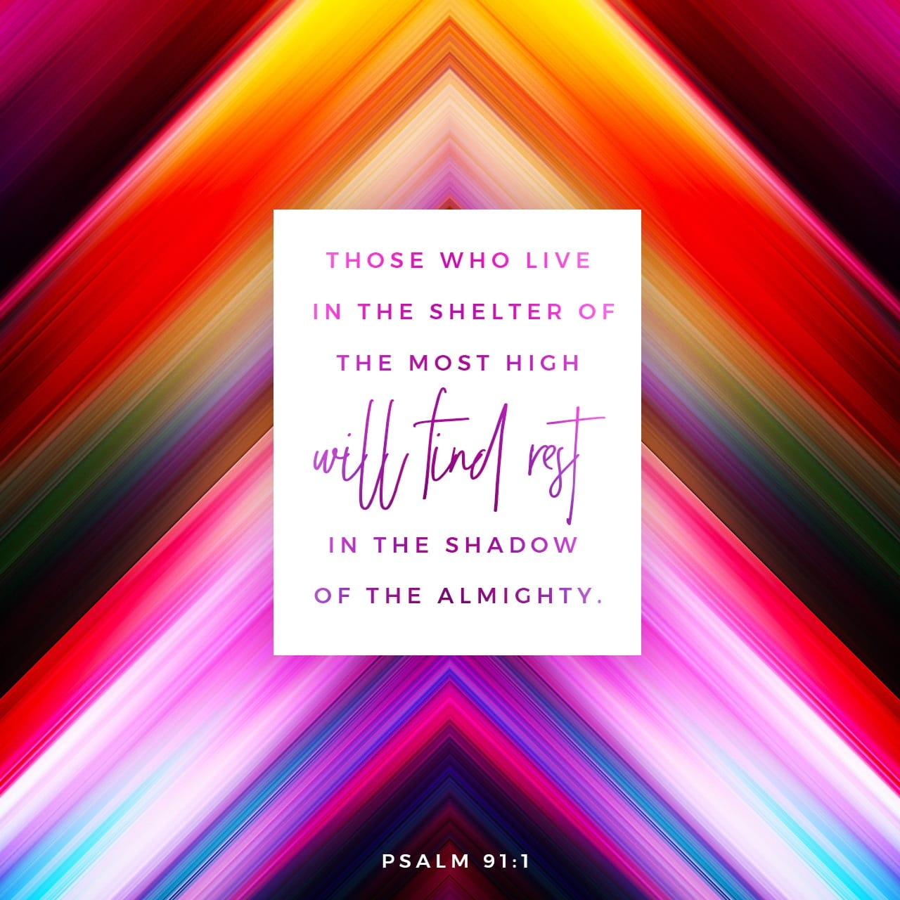 Psalms 91:1-9 He that dwelleth in the secret place of the most High shall abide under the shadow of the Almighty. I will say of the LORD, He is my refuge and my fortress: my God; in him will I trust. Surely he shal | King James Version (KJV)