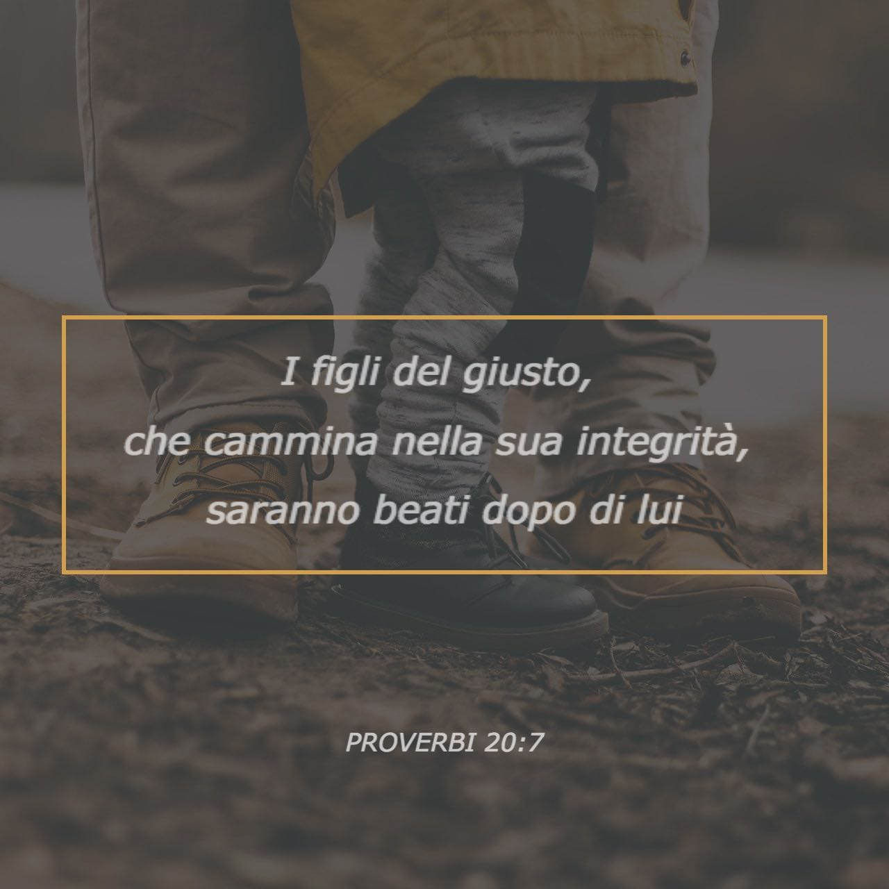 Proverbi 20:7 Immagine Versetto