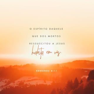 Imagem do Versículo de Romanos 8:11