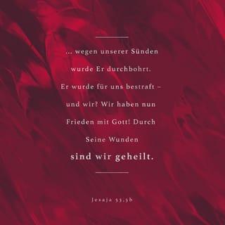 Versbild für Jesaja 53,5