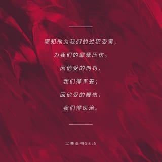 以赛亚书 53:5 经文图
