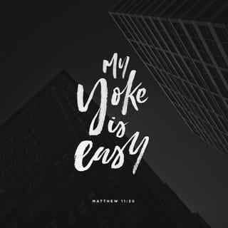 Matthew 11:30 For my yoke is easy, and my burden is light