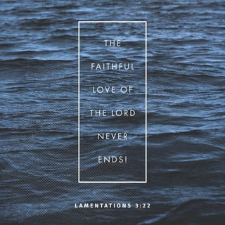 Lamentations 3:22-23 It is of the LORD'S mercies that we are