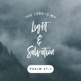 Psalms 27:1 The LORD is my light and my salvation
