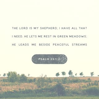Psalm 23:1 The LORD is my shepherd