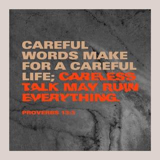 proverbs 13 3 careful words make for a careful life careless talk