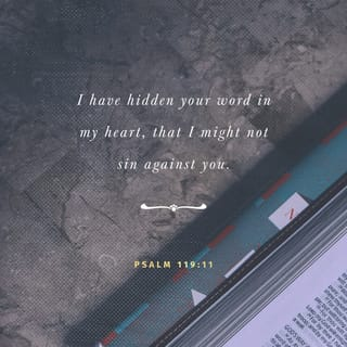 Psalms 119:11 Your word I have hidden in my heart, That I