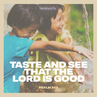 Psalms 34:8 Oh, taste and see that the LORD is good