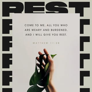 """Matthew 11:28-30 """"Come to me, all you who are weary and"""