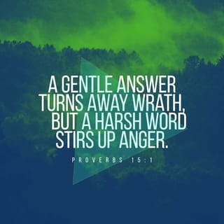 Proverbs 15:1 A soft answer turns away wrath, But a harsh