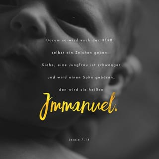 Versbild für Jesaja 7,14